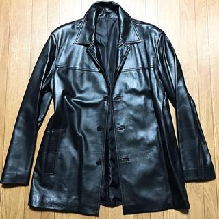 未使用ラム羊皮革 送料込レザージャケットコート新品カジュアルビジネス秋冬アウター