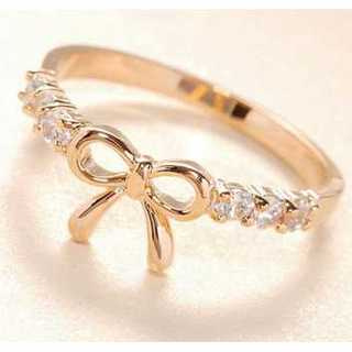 リボン型指輪(ゴールド) 15号(リング(指輪))