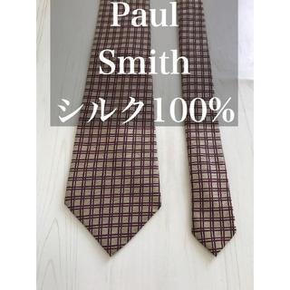 ポールスミス(Paul Smith)のPaul Smith ポールスミスネクタイチェック柄シルク100%(ネクタイ)