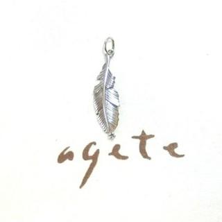 agete - アガット ホワイトトパーズのSVネックレスチャーム/ペンダントトップ