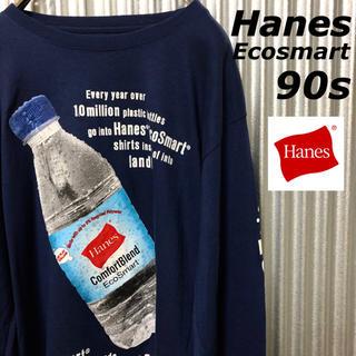 ヘインズ(Hanes)の古着 メンズ  長袖 90s ロンティー  カットソー ヘインズ(Tシャツ/カットソー(七分/長袖))