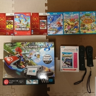 Wii U - Wii U 本体 すぐに遊べるマリオカート8セット(kuro)その他ソフト7本