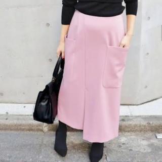 IENA - イエナのR/Wビッグポケットアシンメトリースカート ロングスカート ピンク