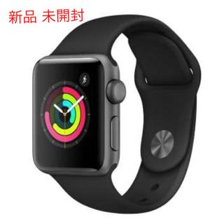 Apple Watch - 新品 未開封 Apple Watch 3 GPS 38mmスペースグレイ