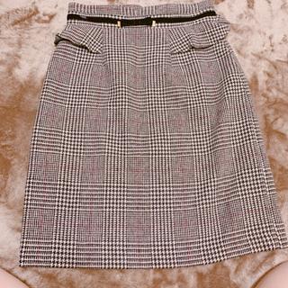 MISCH MASCH - ペプラムチェックタイトスカート