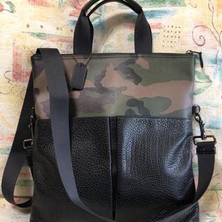 COACH - 【COACH】コーチ カモフラ柄ツーウェイバッグ 新品未使用タグ付き