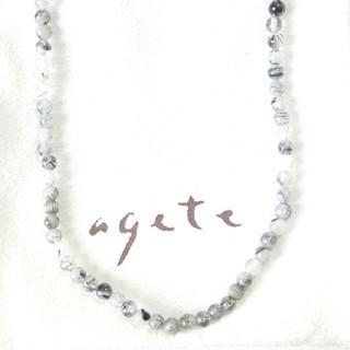 アガット(agete)のアガット ブラックルチルクォーツのSVネックレス(ネックレス)