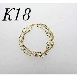 K18 2連チェーンリング(リング(指輪))