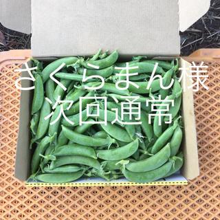 鹿児島産甘スナップエンドウ1キロ^_^次回通常(野菜)