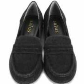 新品★スエード調★ブラック★salus★SHOPLIST(ローファー/革靴)