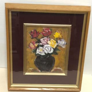 油絵 バラ 昭和50年代作