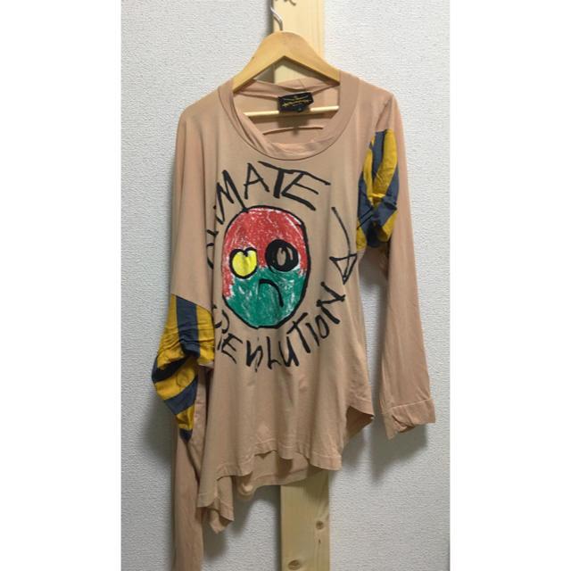 Vivienne Westwood(ヴィヴィアンウエストウッド)のVivienne Westwood ANGLOMANIA 変形長袖Tシャツ レディースのトップス(Tシャツ(長袖/七分))の商品写真