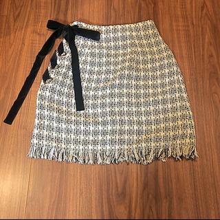 snidel - ツイード 台形 リボンスカート