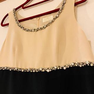 GRACE CONTINENTAL - グレースコンチネンタル クラス ビジュー バイカラー ワンピース ドレス
