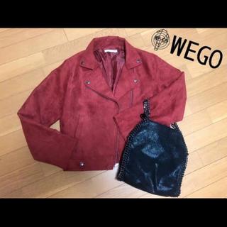 ウィゴー(WEGO)のWEGO ライダースジャケット 赤(ライダースジャケット)