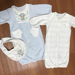 コムサイズム(COMME CA ISM)のロンパース 新生児 2枚セット(ロンパース)