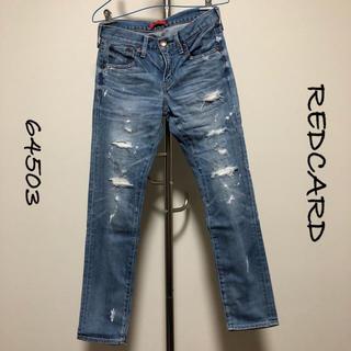 DEUXIEME CLASSE - REDCARD / ダメージボーイフレンドデニム / 64503 / サイズ22