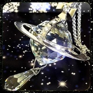 Vivienne Westwood - 新品・限定・クリスタルドロップ・ジャイアントオーブネックレス(silver)
