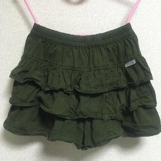 カーキ色ショートパンツ小さめ140キュロット スカート