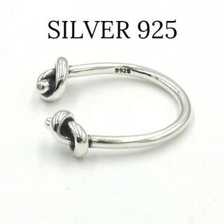 s925 ツゥーノット(結び)リング シルバー925 SILVER ring(リング(指輪))