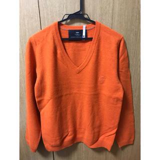 シップス(SHIPS)の【秋冬モデル】シップスジェットブルー Vネックニット オレンジ M(ニット/セーター)