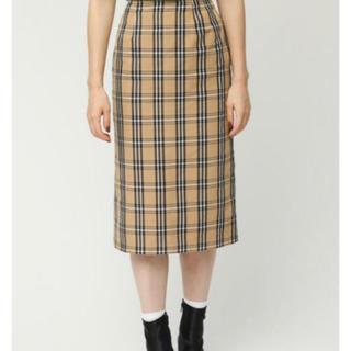 SLY - sly スライ 新品タグ付 定価8618円 チェック ミディ スカート