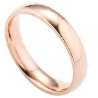 シンプルなファッションリング(ピンクゴールド) サイズ:18号(リング(指輪))