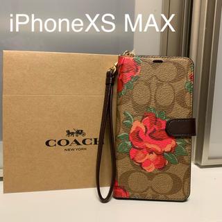 コーチ(COACH)の新品 COACH コーチ iPhoneXS MAX 手帳型ケース 花(iPhoneケース)