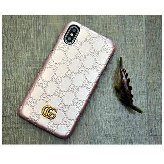 Gucci - 【ラスト1点】iPhoneケース グッチ ピンク ゴールド