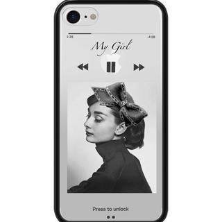 iPhoneケース 音楽再生風 オードリーヘップバーン デザインコード