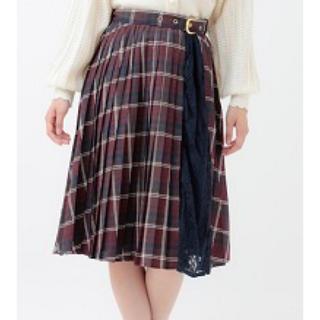 LIZ LISA -  配色チェックプリーツスカート ネイビー LIZ LISA 新品 未使用