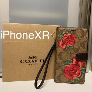 コーチ(COACH)の新品 COACH コーチ iPhoneXR 手帳型ケース 花(iPhoneケース)