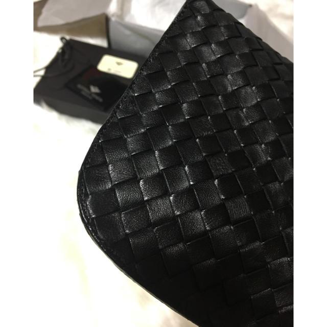 Bottega Veneta(ボッテガヴェネタ)のボッテガヴェネタ❤レザー クラッチバッグ 黒 メンズのバッグ(セカンドバッグ/クラッチバッグ)の商品写真