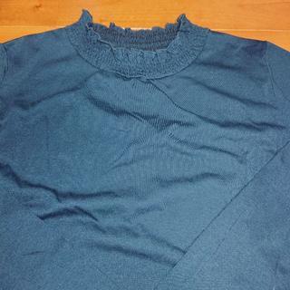 グローブ(grove)の《新品未使用》grove青っぽい色カットソー☆長袖☆サイズL(カットソー(長袖/七分))