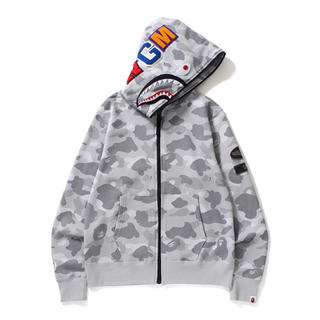 A BATHING APE - BAPE Dot Camo Shark Wide Full Zip Hoodie
