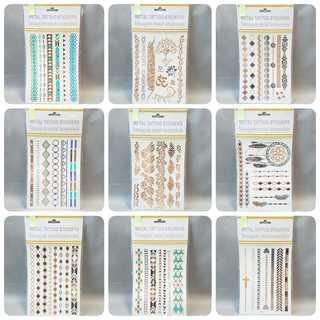【数量限定】 セット1 メタリック タトゥーシール 10枚セット 新品 (その他)