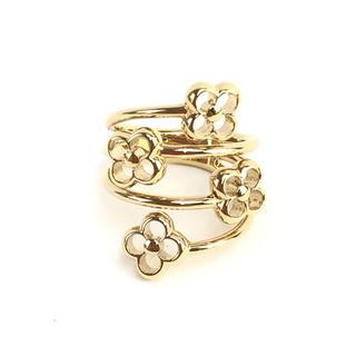 ルイヴィトン(LOUIS VUITTON)の❤️美品❤️ ルイヴィトン フラワーリング 指輪 10号 未使用 付属あり(リング(指輪))