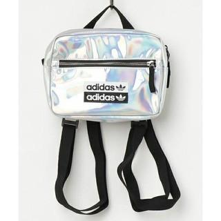 アディダス(adidas)の【10/19限定価格】adidas  ミニエアライナー  シルバー(ショルダーバッグ)