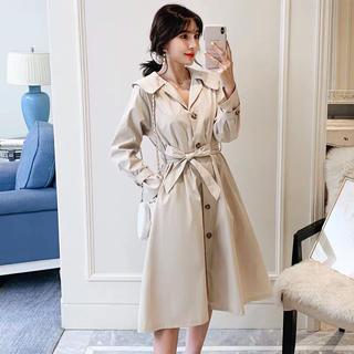 ベージュサイズ3XL 秋冬新作トレンチコート コート パーティコート 結婚式服(トレンチコート)