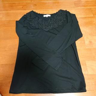 グローブ(grove)の《新品未使用》grove黒色長袖カットソー☆LLサイズ☆(カットソー(長袖/七分))