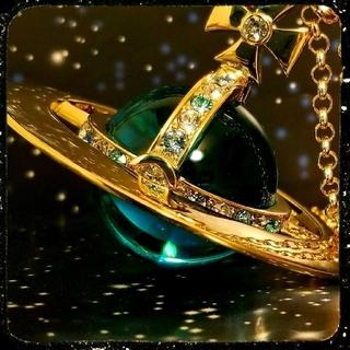 Vivienne Westwood - 新品・ジャイアントオーブネックレス (ゴールドブルー)
