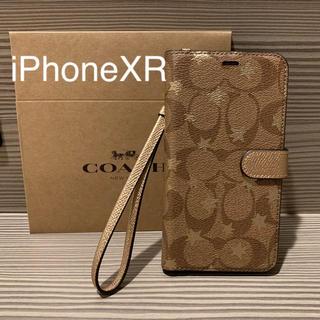 コーチ(COACH)の新品 COACH コーチ iPhoneXR 手帳型ケース 星(iPhoneケース)