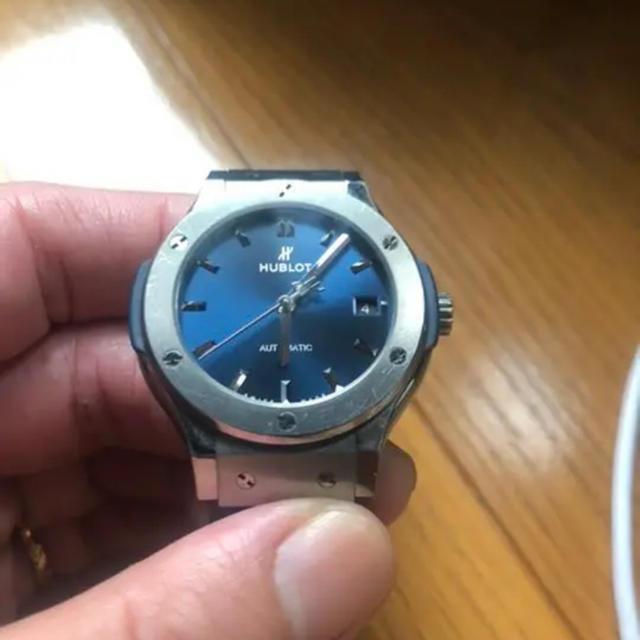オメガスピードマスタープロフェッショナル 価格 、 HUBLOT - HUBLOT  腕時計 ウブロ クラシックフュージョン チタニウムブルーの通販 by 大吉's shop