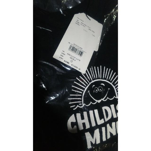 RODEO CROWNS WIDE BOWL(ロデオクラウンズワイドボウル)の新品未使用 ブラック レディースのトップス(Tシャツ(長袖/七分))の商品写真