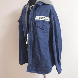 ロデオクラウンズワイドボウル(RODEO CROWNS WIDE BOWL)のRODEO CS US フラッグミリタリー シャツ(ミリタリージャケット)
