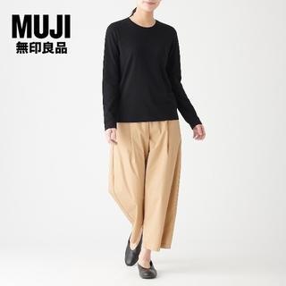 MUJI (無印良品) - 美品 無印良品✨MUJI クルーネック 長袖Tシャツ コットン100 サイズXS