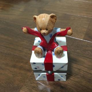 ウェッジウッド(WEDGWOOD)のウェッジウッド プレゼントくまの小物入れ(小物入れ)