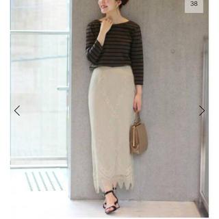 イエナ(IENA)のIENA パネルレースロングスカート 40サイズ(ロングスカート)