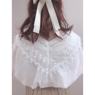natural couture - 新品タグ付き💓ナチュの2wayレースブラウス✨