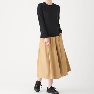 MUJI (無印良品) - ★新品★  無印良品ウールシルク洗えるクルーネックセーター/黒/L